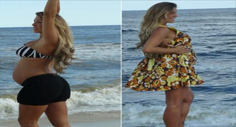 Myriam Martins grávida