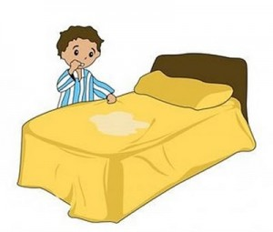 criança xixi na cama