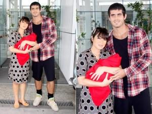 danielle suzuki,filho e marido