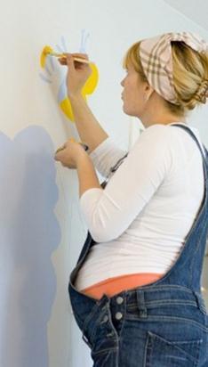 pintar paredes durante gravidez