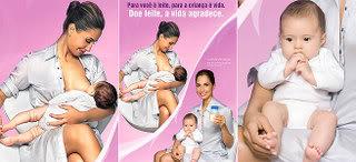 camila pitanga e filha campanha doação de leite