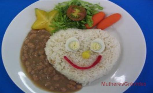 prato atrativos para seu filho comer