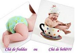 chá de fraldas ou chá de bebê