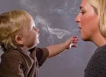 fumar perto de crianças